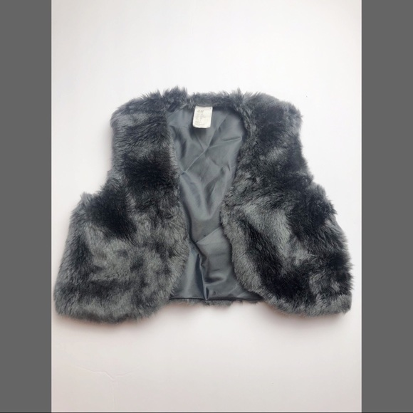 H&M Other - H&M Grey Faux Fur Vest
